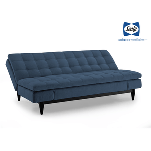 Montreal Sofa Convertible in Ocean by Sealy - Futons 4 Less