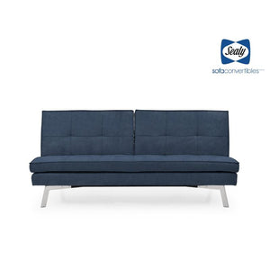 Jackson Splitback Convertible in Navy by Sealy - Futons 4 Less