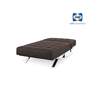 Carmen Chaise Convertible in Slate by Sealy - Futons 4 Less