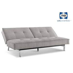 Anson Splitback Convertible in Silver by Sealy - Futons 4 Less