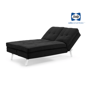 Lawrence Splitback Convertible with Chaise in Grey by Sealy