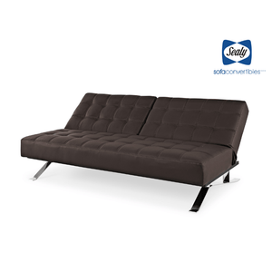 Carmen Splitback Convertible in Slate by Sealy - Futons 4 Less