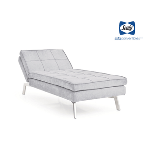 Jackson Chaise Convertible in Steel by Sealy - Futons 4 Less