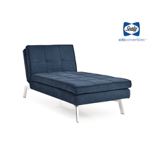 Jackson Chaise Convertible in Navy by Sealy