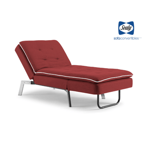 Harriet Chaise Convertible in Lipstick by Sealy