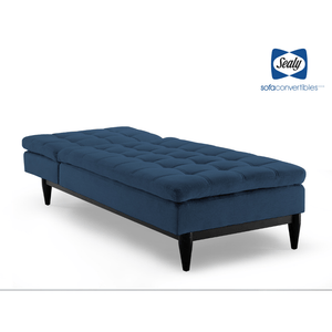 Montreal Chaise Convertible in Ocean by Sealy - Futons 4 Less
