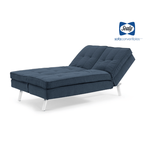 Lawrence Splitback Convertible with Chaise in Blue by Sealy