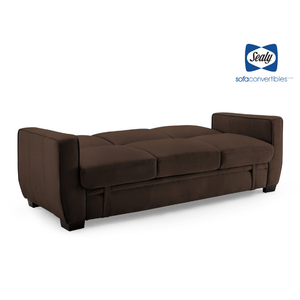 Perris Sofa Convertible with Storage  in Pecan by Sealy