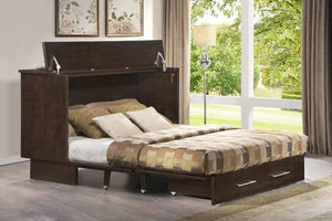 Traditional Murphy Cabinet Bed Coffee/Espresso - Futons 4 Less