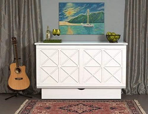 Essex Queen Murphy Cabinet Bed White - Futons 4 Less
