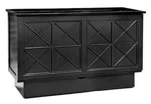 Essex Queen Murphy Cabinet Bed Black - Futons 4 Less