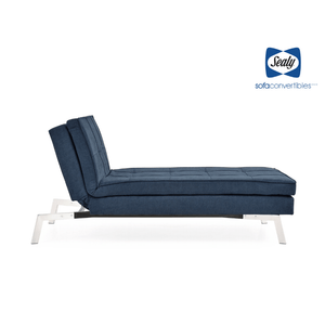Jackson Chaise Convertible in Navy by Sealy - Futons 4 Less
