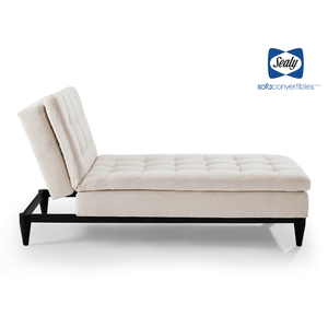 Montreal Chaise Convertible in Tan by Sealy - Futons 4 Less