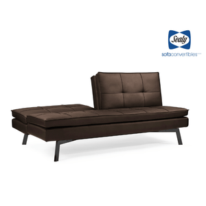 Brooklyn Splitback Convertible in Slate by Sealy - Futons 4 Less