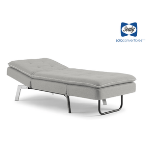 Harriet Chaise Convertible in Slate by Sealy - Futons 4 Less