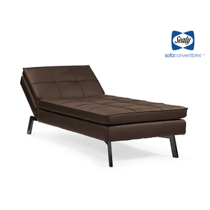 Brooklyn Chaise Convertible in Slate by Sealy - Futons 4 Less