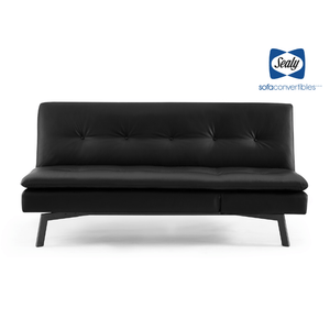 Savannah Sofa Convertible with Chaise in Midnight by Sealy