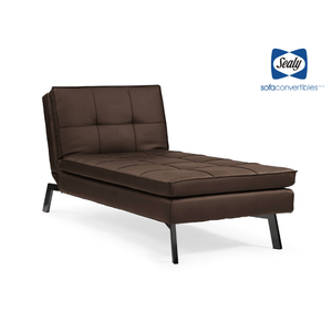 Brooklyn Chaise Convertible in Slate by Sealy