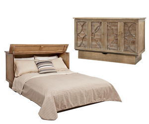 Arason Creden-ZzZ Brussels Ash Queen Murphy Cabinet Bed In A Box