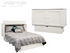Arason Creden-ZzZ Cottage White Queen Murphy Cabinet Bed In A Box