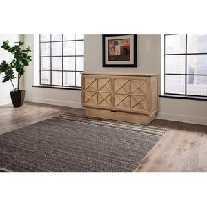 Arason Creden-ZzZ Essex Ash Queen Murphy Cabinet Bed In A Box