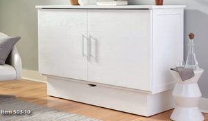 Arason Creden-ZzZ Madrid White Queen Murphy Cabinet Bed In A Box