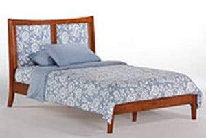 P Series Chameleon Medium Oak Platform Bed - Futons 4 Less