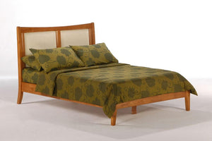 K Series Chameleon Medium Oak Platform Bed - Futons 4 Less