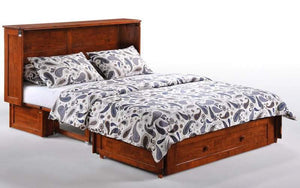 Clover Queen Murphy Cabinet Bed Cherry - Futons 4 Less