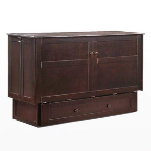 Clover Queen Murphy Cabinet Bed Dark Chocolate - Futons 4 Less