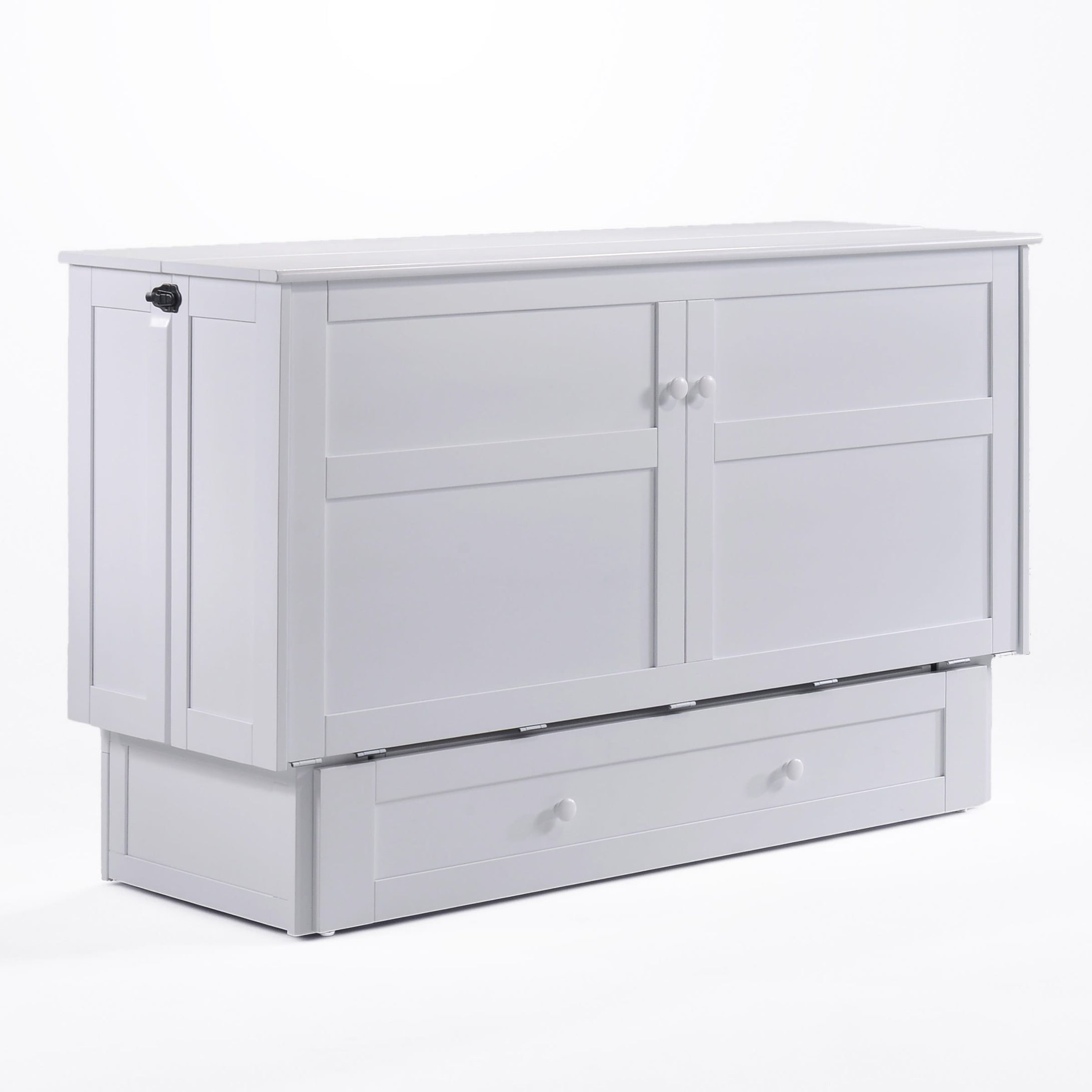 Clover Queen Murphy Cabinet Bed White