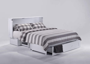 Clover Queen Murphy Cabinet Bed White - Futons 4 Less