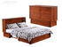Night & Day Clover Cherry Queen Murphy Cabinet Bed