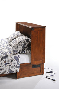 Night & Day Clover Dark Chocolate Queen Murphy Cabinet Bed