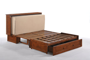 Night & Day Clover Cherry Queen Murphy Cabinet Bed In A Box