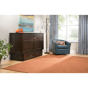 Night & Day Clover Dark Chocolate Queen Murphy Cabinet Bed In A Box