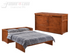 Night & Day Cube Cherry Queen Murphy Cabinet Bed In A Box