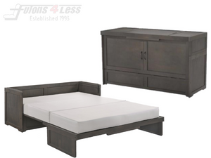 Night & Day Cube Stonewash Queen Murphy Cabinet Bed In A Box