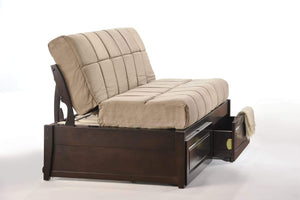 Jefferson Daybed Chocolate - Futons 4 Less