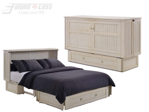 Night & Day Daisy Buttercream Queen Murphy Cabinet Bed In A Box