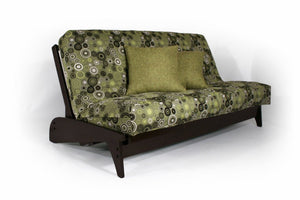 Dillon Black Walnut Full Wall Hugger Futon Frame (KD) - Futons 4 Less