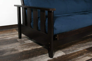 Canby Black Walnut Queen Wall Hugger Futon Frame (KD) - Futons 4 Less