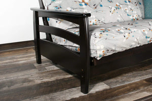 Galena Black Walnut Full Wall Hugger Futon Frame (KD) - Futons 4 Less