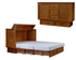 Arason Creden-ZzZ Kingston Queen Murphy Cabinet Bed In A Box