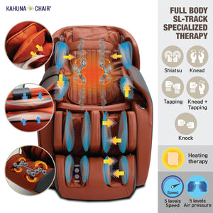 Kahuna Massage Chair Heated Full Body With Voice Recognition LM-7000 Brown