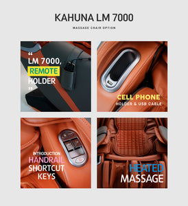 Kahuna Massage Chair Heated Full Body With Voice Recognition LM-7000 Orange
