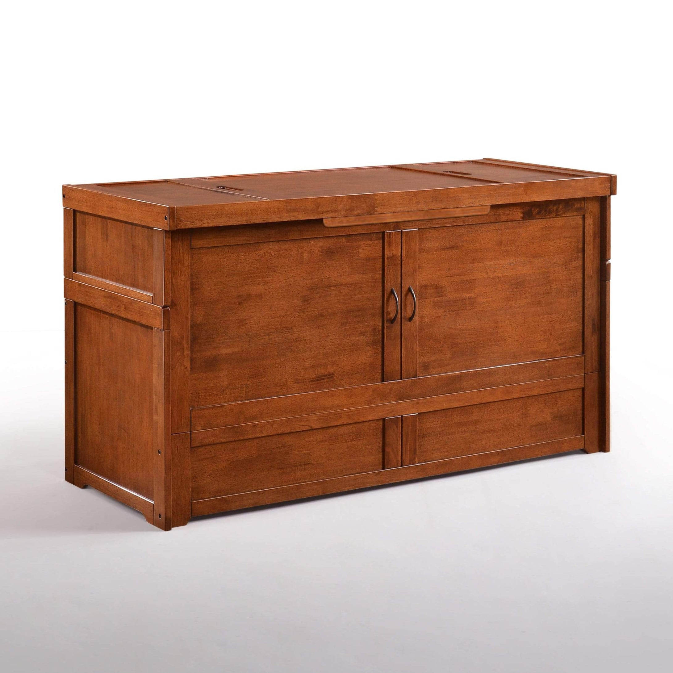 Cube Queen Murphy Cabinet Bed Cherry