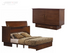 Arason Creden-ZzZ Pekoe Traditional Full Murphy Cabinet Bed In A Box