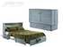 Night & Day Poppy Skye Queen Murphy Cabinet Bed In A Box