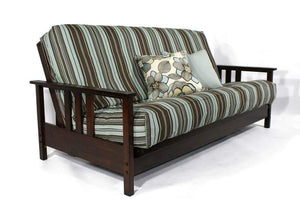 Durango Dark Cherry Full Wall Hugger Futon Frame - Futons 4 Less